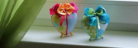 Dekorácie - Zeleno-tyrkysové srdce - 5149695_