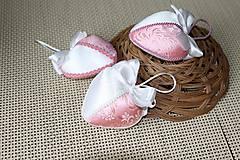 Dekorácie - ružové srdiečka - 5150131_