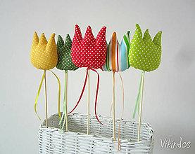 Dekorácie - Tulipány - farebný mix - 5148510_