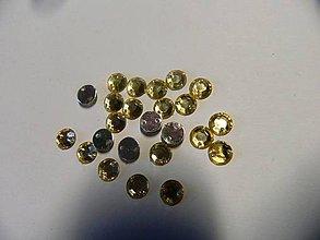 Iný materiál - Našívacie kamienky kruhové žlté 7mm - 5150765_