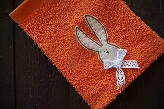 Úžitkový textil - žinka oranžová - 5150243_