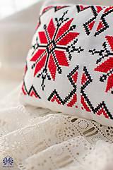 Úžitkový textil - Folk vankúšik - 5149532_