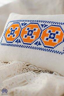 Úžitkový textil - Folk vankúšik - 5149527_