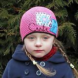 Detské čiapky - Čiapka s textilnou aplikáciou