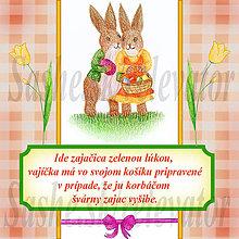Papiernictvo - Veľkonočná pohľadnica s autorskou básňou 4 - 5148501_