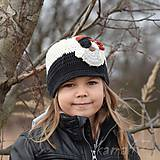 Detské čiapky - Prechodná šiltovka... sova-pirát - 5151600_