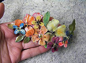 Náhrdelníky - vintage flowers 4 náhrdelník - 5152401_