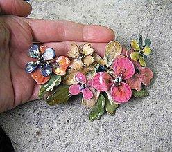 Náhrdelníky - LEL , vintage flowers 5 - 5152473_