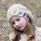 Detské čiapky - Baretka pieskovej farby - 5153216_