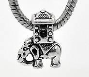 Korálky - Pandorková korálka slon - 5151639_