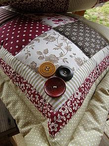 Úžitkový textil - Vankúše - bordové tóny - veľké :) - 5151944_