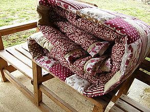 Úžitkový textil - Bordové tóny - prehoz ...:) - 5152096_