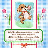 Papiernictvo - Veľkonočná pohľadnica s autorskou básňou 6 - 5155626_