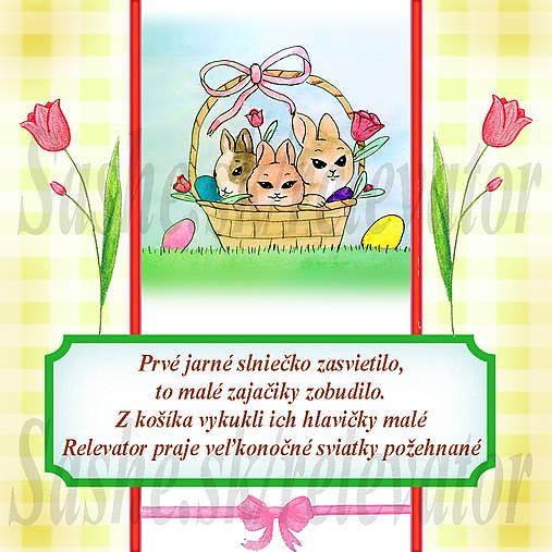 Veľkonočná pohľadnica s autorskou básňou 5