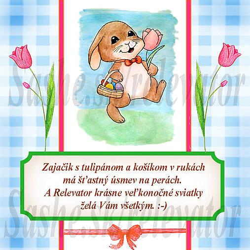 Veľkonočná pohľadnica s autorskou básňou 6