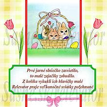 Papiernictvo - Veľkonočná pohľadnica s autorskou básňou 5 - 5154476_