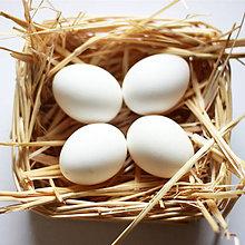 Suroviny - Biele veľkonočné vajíčka veľkosť M - 5157140_