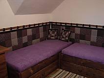 Úžitkový textil - zástena na posteľ - čokoládová - 5159978_