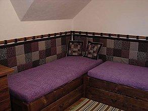 Úžitkový textil - zástena na posteľ - čokoládová  (70x220cm) - 5159978_