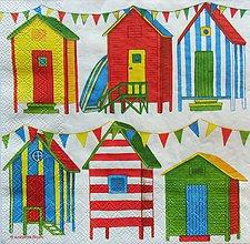 Papier - S195 Servítky - plážové domčeky - 5160767_