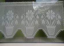 Úžitkový textil - Kvietkova záclonka - 5157308_