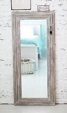 Zrkadlá - Veľké zrkadlo CAROLINA BROWN 132x58cm - 5156849_