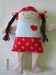 Hračky - Copatá Zuzka- textilná hračka - 5159482_
