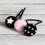 Gumičky do vlasov s buttonkami Pre malú hviezdu