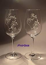 Nádoby - Viera - svadobné poháre - 2ks - 5156461_