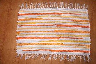 Úžitkový textil - Malý tkaný koberček - 5158359_