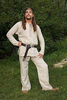 Oblečenie - Ľanové nohavice - p  - 5161282_