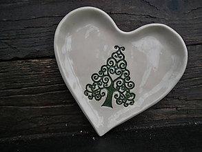 Nádoby - Mištička srdiečko: Strom ornament - 5163616_