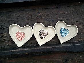 Nádoby - Mištička srdiečko: Srdce ornament - 5163656_