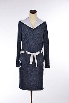 Šaty - Šaty s kapucňou – Blue-white Dark Sky - 5165197  afd2b4037c9