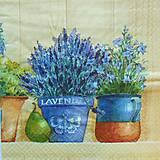 - S212 - Servítky - levandula v kvetináči - 5161275_