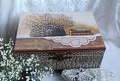 Krabičky - zátišie na komodke... - 5165648_