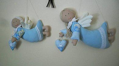 Dekorácie - malý a velký anjelik - 5165076_