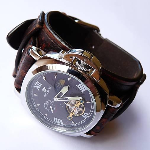 80c7797d77e Pánske hodinky kožené hnedé   leon - SAShE.sk - Handmade Náramky