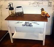 """Nábytok - Stôl...Stolík...na """"bársčo"""" a """"bárskam""""...v bielom - 5168413_"""
