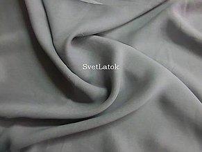 Textil - Šifón šedý - 50 cm - 5169575_