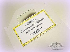 Papiernictvo - Škatuľa na zákusky, malá s ozdobnou kartičkou - 5166639_
