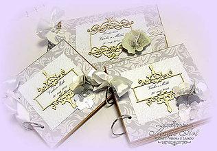 """Papiernictvo - Svadobná kolekcia """"Šťastena v elegantnom šate..."""" - 5166945_"""