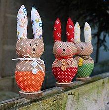 Dekorácie - zajačik /zôzne farby / - 5167066_