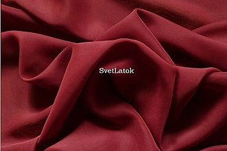 Textil - Šifón bordový - 50 cm - 5174696_