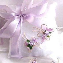 Prstene - Vankúšik na obrúčky- motýlí - 5174558_