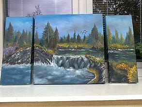 Obrazy - 3-dielne vodopády - 5171267_