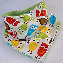 Detské doplnky - Sovičky - detská šatka - 5174440_