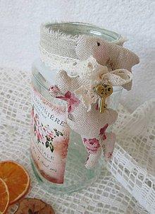 Nádoby - Shabby chic nádoba zo zajačikom - 5173178_