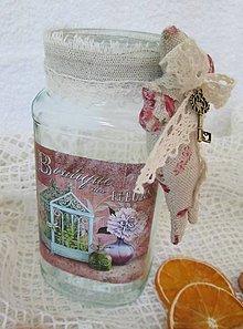 Nádoby - Shabby chic nádoba zo zajačikom - 5173486_