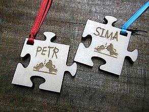 Drobnosti - puzzle prívesky - 5175196_
